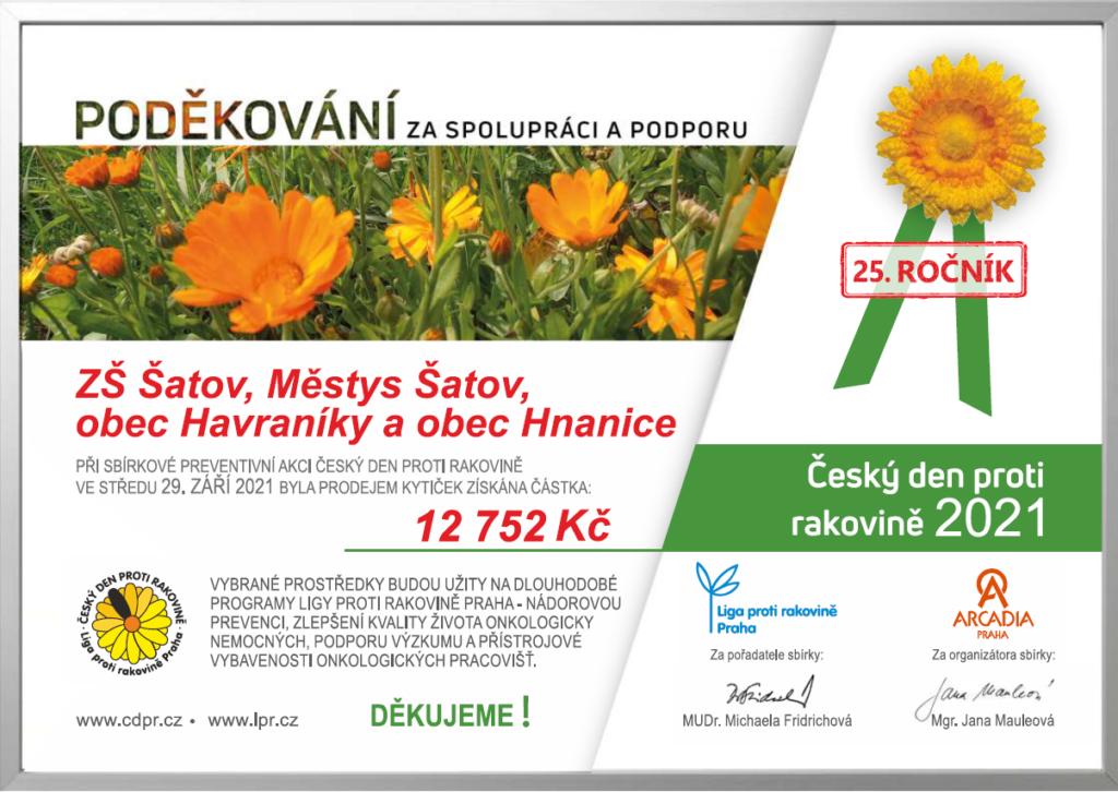 Květinový den - certifikát